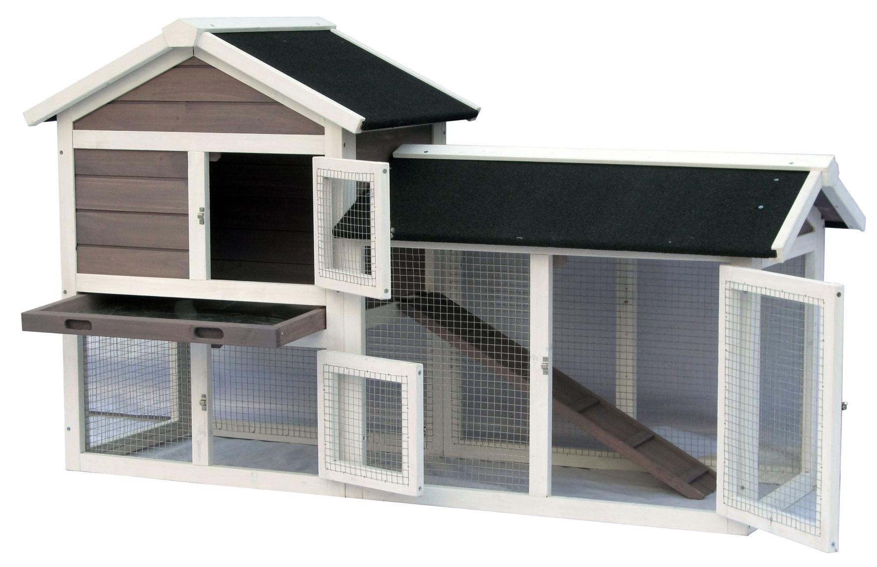 Kaninchen- Meerschweinchen Außenstall mit 2 Etagen Avoriaz Image