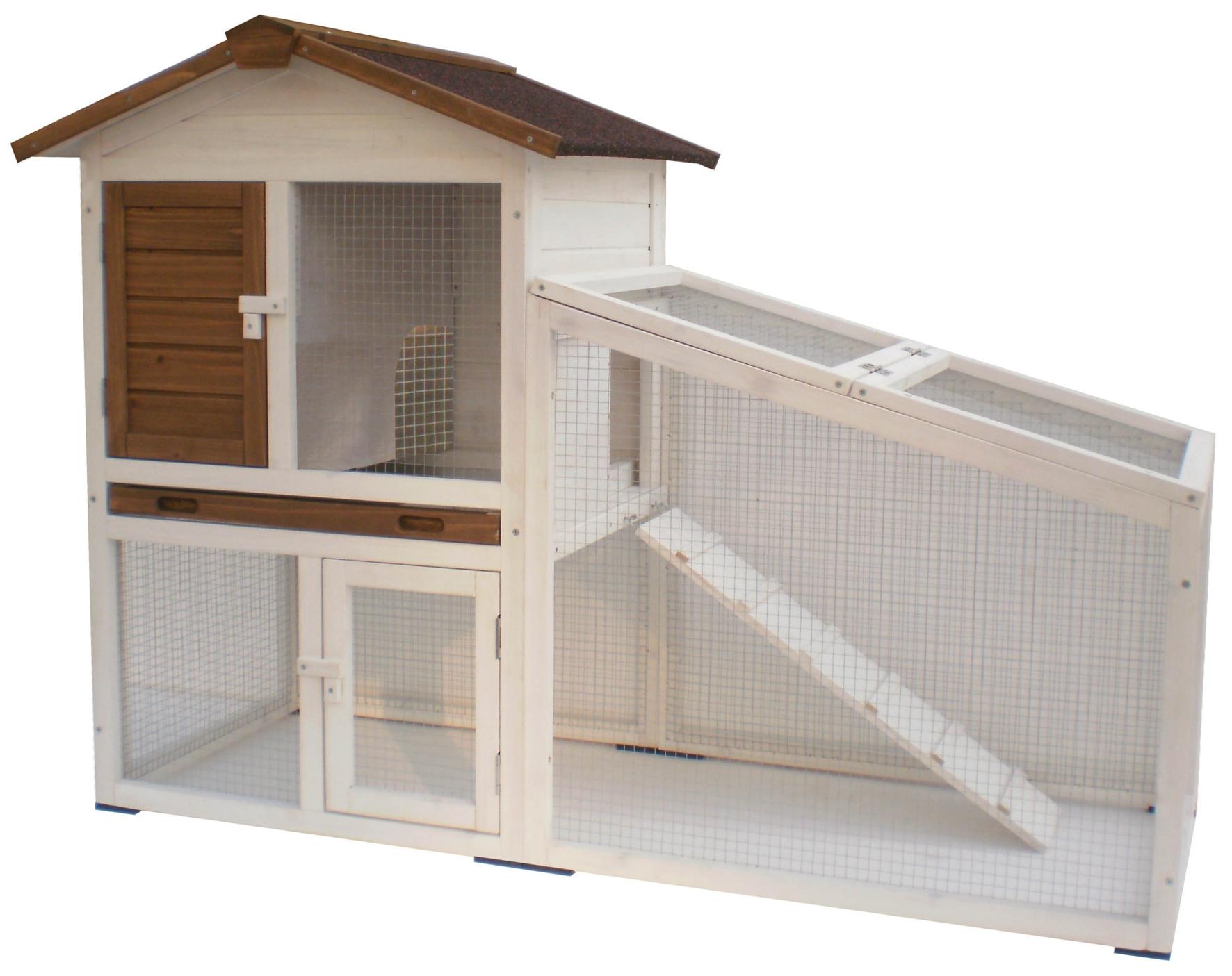 Kaninchen- Meerschweinchen Außenstall mit 2 Etagen Loft Image