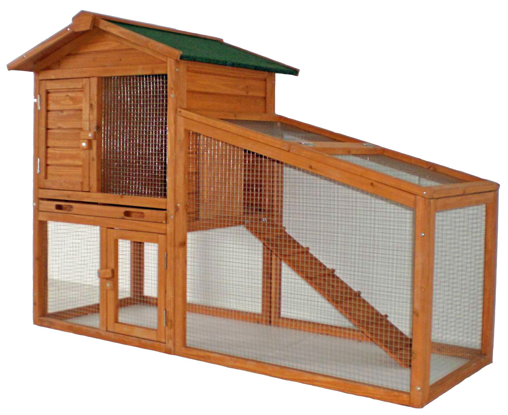 Kaninchen- Meerschweinchen Außenstall mit 2 Etagen Tommy Image